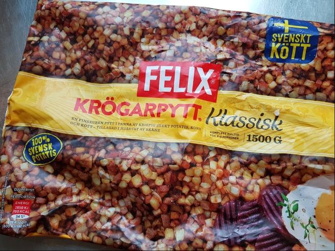 En påse med pyttipanna av halvfabrikat, Felix krögarpytt